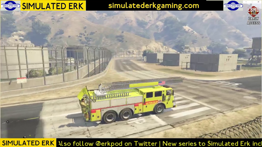 Simulated Erk: Los Santos Fire episode 11 | Out & About in Sandy Shores & Fort Zancudo