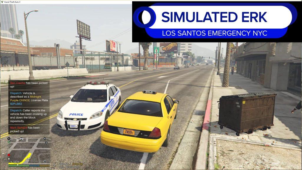 Simulated Erk: Los Santos Emergency Blue episode 48| Big Yellow Taxi