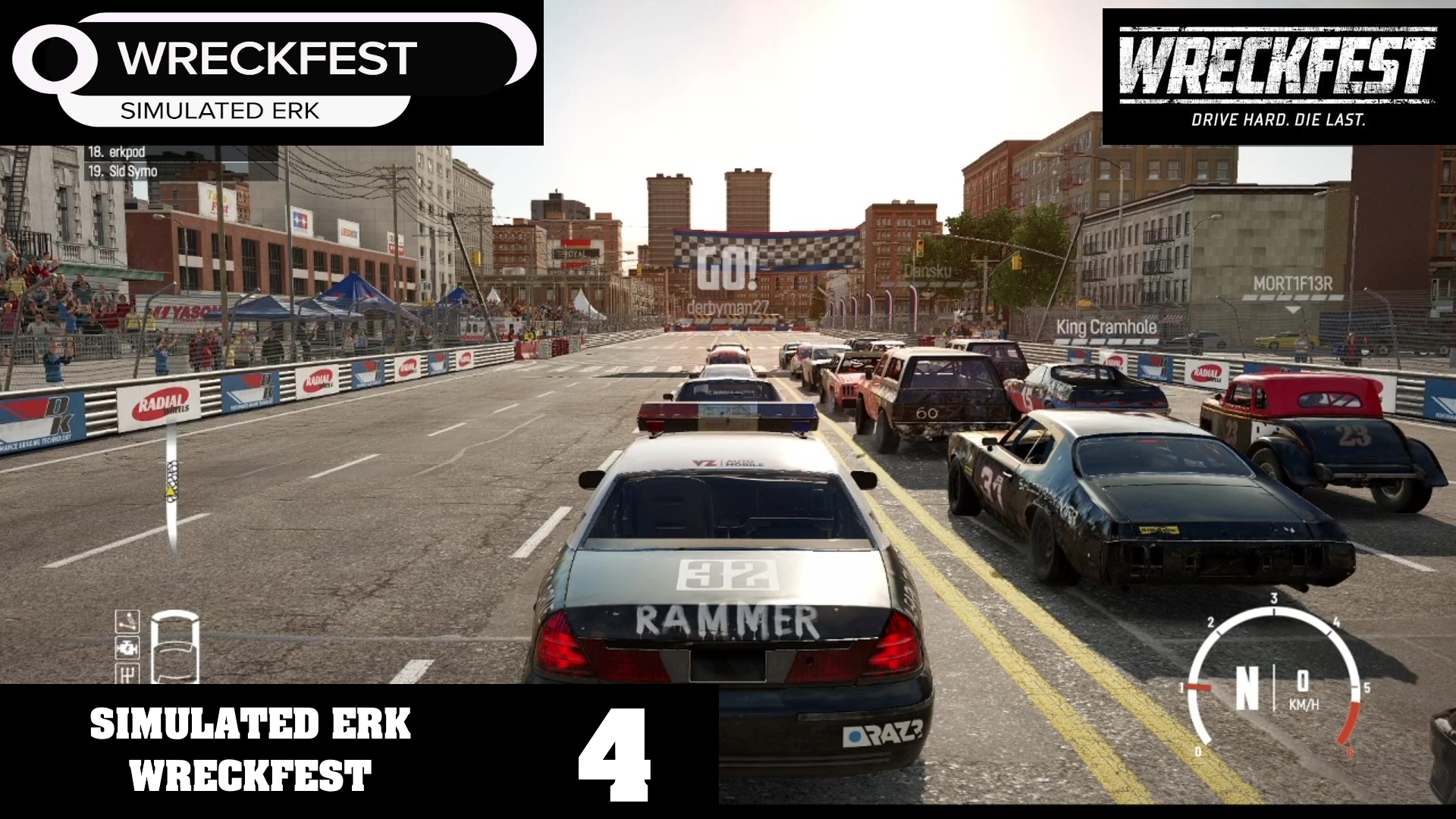 Simulated Erk: Wreckfest episode 4   It's The Sounds Of The Police
