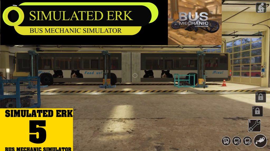 Simulated Erk: Bus Mechanic Simulator episode 5   Sim Erk's First Bendy Bus Job!