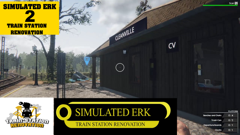 Simulated Erk: Train Station Renovation episode 2 | Getting To Work At Cleanville